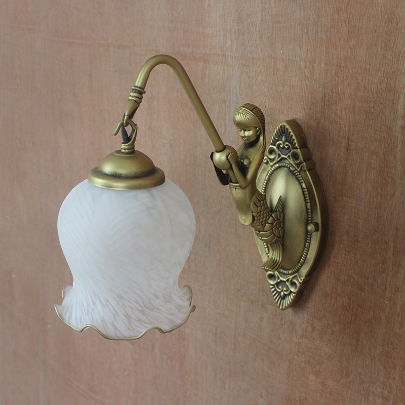 A1 Golden white and lovely Jane retro bedside wall lamp wall lamp garden bedroom balcony stairs wall Mermaid shipping FG347 jane lawes summertime and somersaults