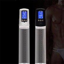 Насос пениса с USB Аккумуляторная, увеличить пенис расширитель, LED Автоматический Пенис Увеличитель Мужской Аксессуар, секс-игрушки для мужчины