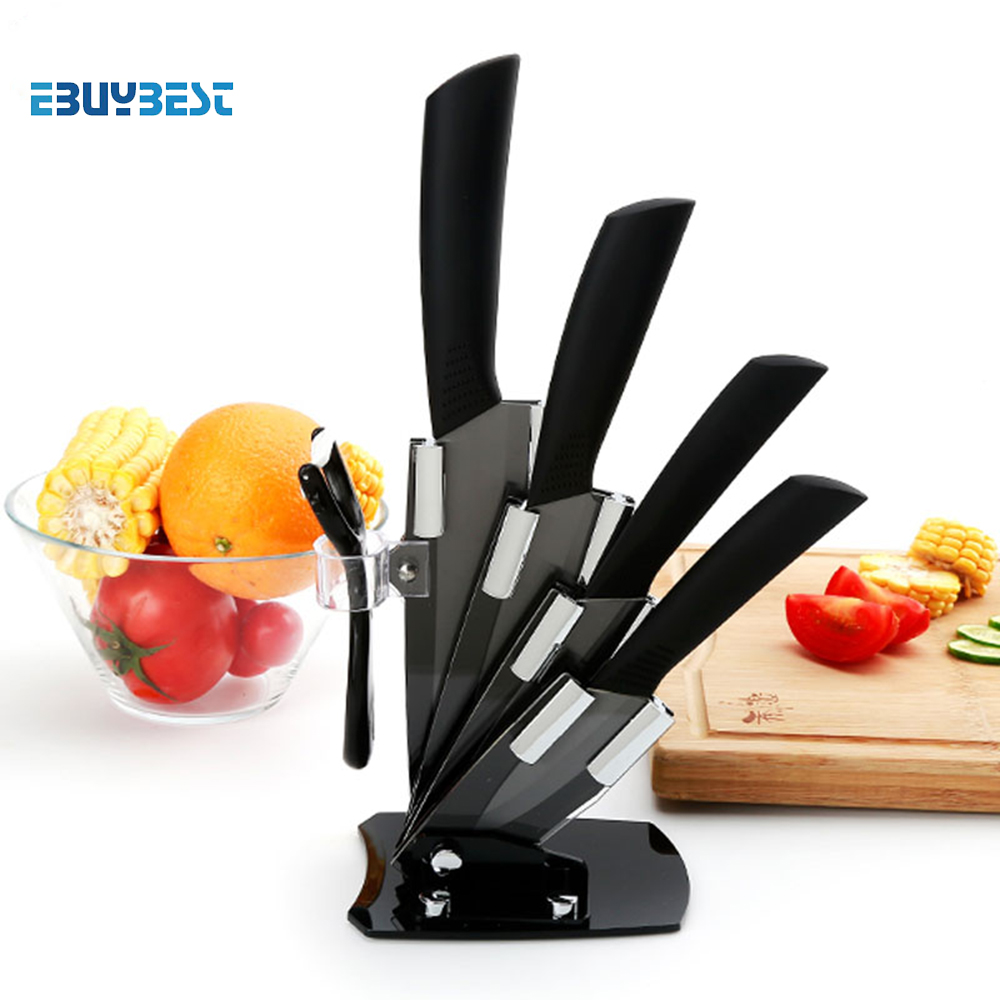 High Quality Kitchen Knife  Black Blade Kicthen Ceramic Knife Set 3