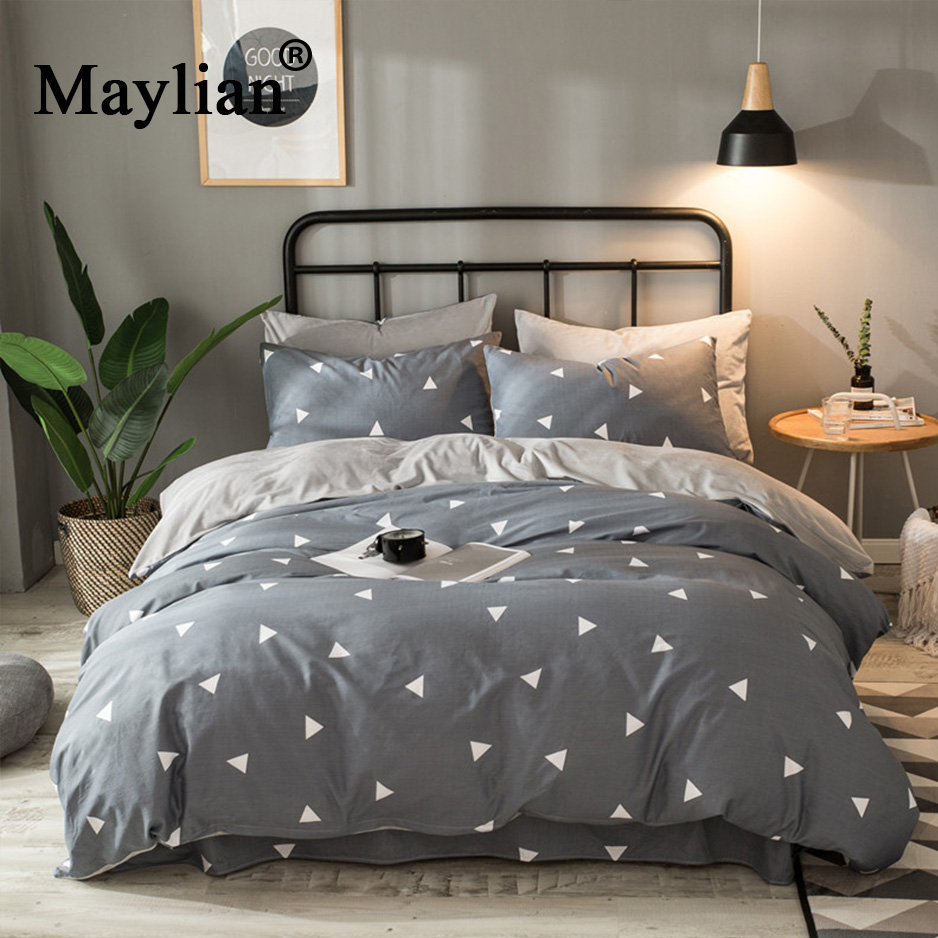 Home Textile 4pcs Bedding Sets Ab Side Cotton/crystal Velvet Duvet Cover Bed Sheet Pillow Cover Winter Warm Brand Be1005Home Textile 4pcs Bedding Sets Ab Side Cotton/crystal Velvet Duvet Cover Bed Sheet Pillow Cover Winter Warm Brand Be1005
