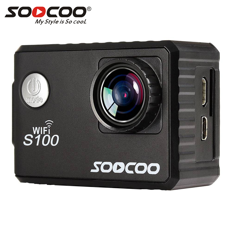 SOOCOO C100 4K Action Camera Outdoor Video Sports Camera wifi Ultra HD Waterproof DV Camcorder 20MP 170 Degree Wide Angle amk7000s camera 1080p hd action digital camera 2 0 lcd 4k wifi sport dv video photo camera 20mp waterproof 40m mini camcorder