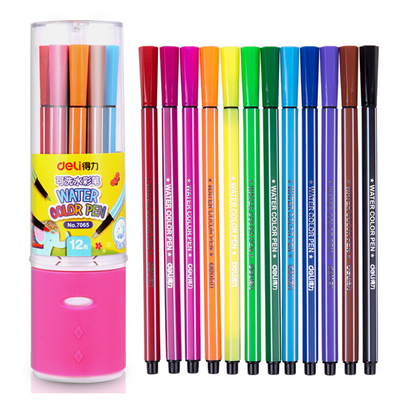 24 Colors Drawing Set Watercolor Pen Washable Art Marker Children Drawing Pen Art Painting Supplies 12 18 24 30 colors set germany stabilo 280 washable drawing painting pen colored markerpen highlighter pen students art painting