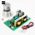 Alto desempenho 100 W 28 KHz Limpeza Ultra-sônica Transdutor Cleaner + Power Driver Conselho 220VAC
