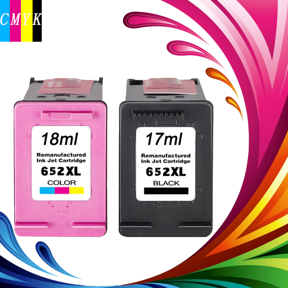 Hisaint Ink Cartridge for HP 652 652XL Compatible for HP Deskjet 1115 2135 2136 2138 3635