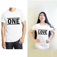 EnjoytheSpiritคู่จับคู่เสื้อยืดOne Loveของขวัญสำหรับคู่รักของขวัญแต่งงานสำหรับคู่ฮันนีมูน