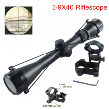 3-9x40 Hunting Mil Dot Air Rifle Gun Tactical Scope Telescopic Sight + 20mm / 11mm Rail MOUNTS Optical Shooting