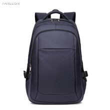FANLOSN Durable Nylon Backpack Female Mens Backpacks for 15.6 Laptop Women Notebook Bag Mochila Leisure School USB