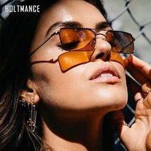 Small Fashion Narrow Rectangle Sunglasses Tiny Women Men Met