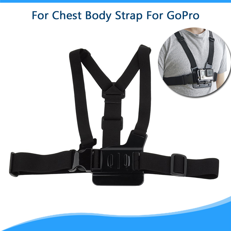 Chest Mount Harness For c Camera Accessory Black Adjustment Elastic Body Chest Strap Belt GoPro Hero 4 3+ 3 2 1 Accessory