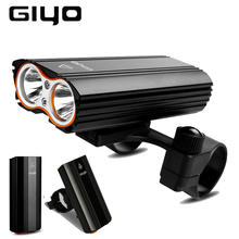 GIYO Bicycle Front Light Bike 2400Lm Headlight T6 Leds Cycling Lamp Lantern Flashlight For Mountain bike or road