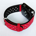 Fohuas new silk couro pulseiras de silicone banda esporte com conector para apple watch bandas 42mm/38mm cinta iwatch