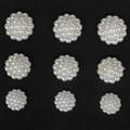 16mm (50 unids) 20mm (30 unids) 22mm (20 unids) de Resina ABS flores de perlas de imitación diseñado cabochon parte posterior plana perlas perlas para la decoración de DIY