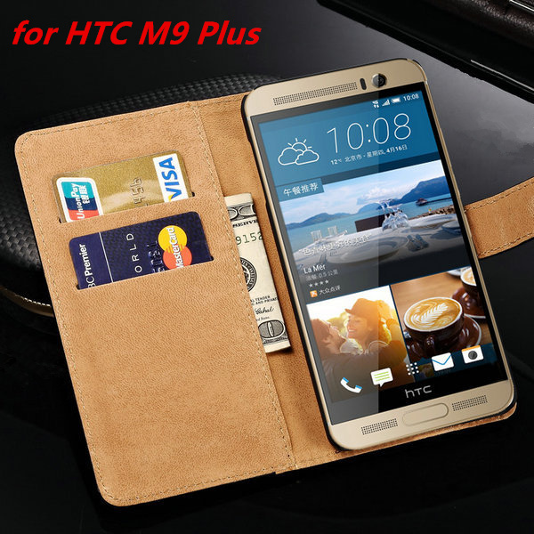 M9plus Luxury Leather Case for HTC One M9 Plus Wallet