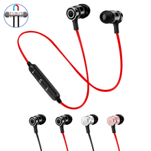 Graves fone de Ouvido Bluetooth fone de Ouvido Sem Fio Fones de Ouvido Fones De Ouvido Com Microfone Estéreo Bluetooth Magnética para xiaomi Telefone Móvel de Esportes