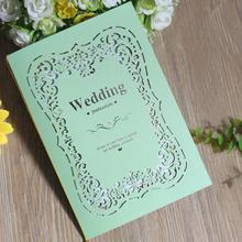 30pcs/lot New Arrival Laser Cut Hollow Wedding Invitation Card Two Folded Blank Inner Page Invitation with Envelope new arrival 35pcs mia page 7