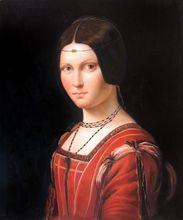Unknown Woman by Leonardo Da Vinci Handpainted