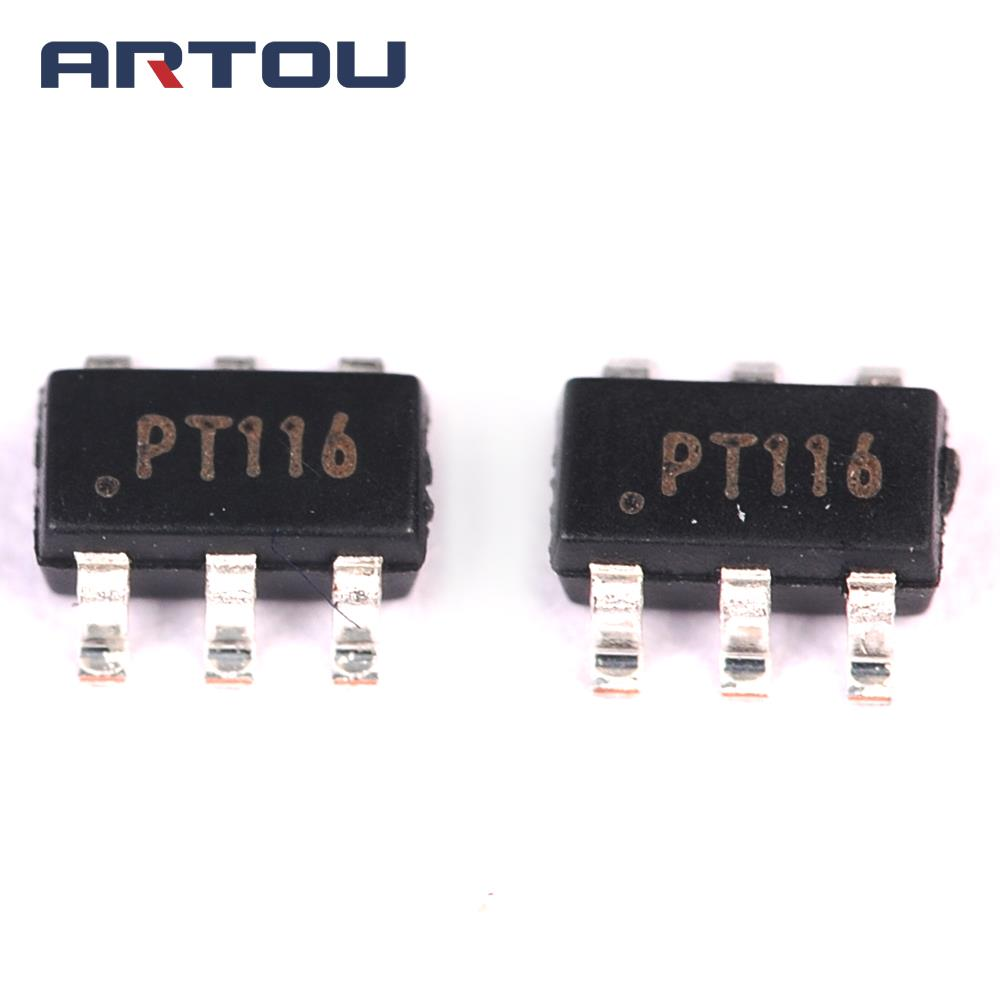 10pcs Pt116 Sop6 Ic Mobile Phone Power Supply Charging Chip In Integrated Circuit Electronic Component China