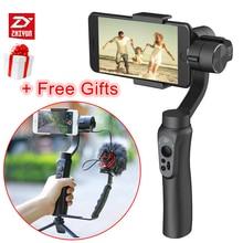 Zhiyun Lisa Q 3-Axis Gimbal Bluetooth Telefone Handheld Estabilizador De Vídeo Steadicam Zoom Tiro para Gopro iPhone transmissão ao vivo