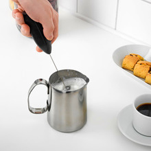 цена на 2015 New Coffee Milk Drink Electric Whisk Mixer Frother Foamer Egg Beater Electric Mini Handle Mixer Stirrer Kitchen Tool hot