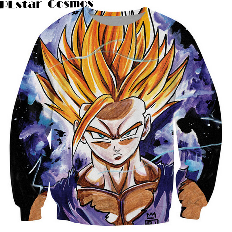 PLstar Cosmos Teen Spirit Sweatshirt Dragon Ball Z Classic cartoon Wukong super saiyan 3d Print Sweats Women Men Clothing