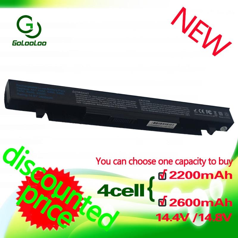 Golooloo 2200MaH Battery for Asus X450 X550 X550C X550A x550v X550CA A41-X550 A450 A550 a41-x550e F552 K550 X550L P550 A41-X550AGolooloo 2200MaH Battery for Asus X450 X550 X550C X550A x550v X550CA A41-X550 A450 A550 a41-x550e F552 K550 X550L P550 A41-X550A