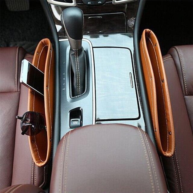 Car Seat Console Gap Filler Pocket Car Seat Seam Storage Box Seat Catcher For Mitsubishi AUDI SUBARU RENAULT FORD NISSAN HONDA