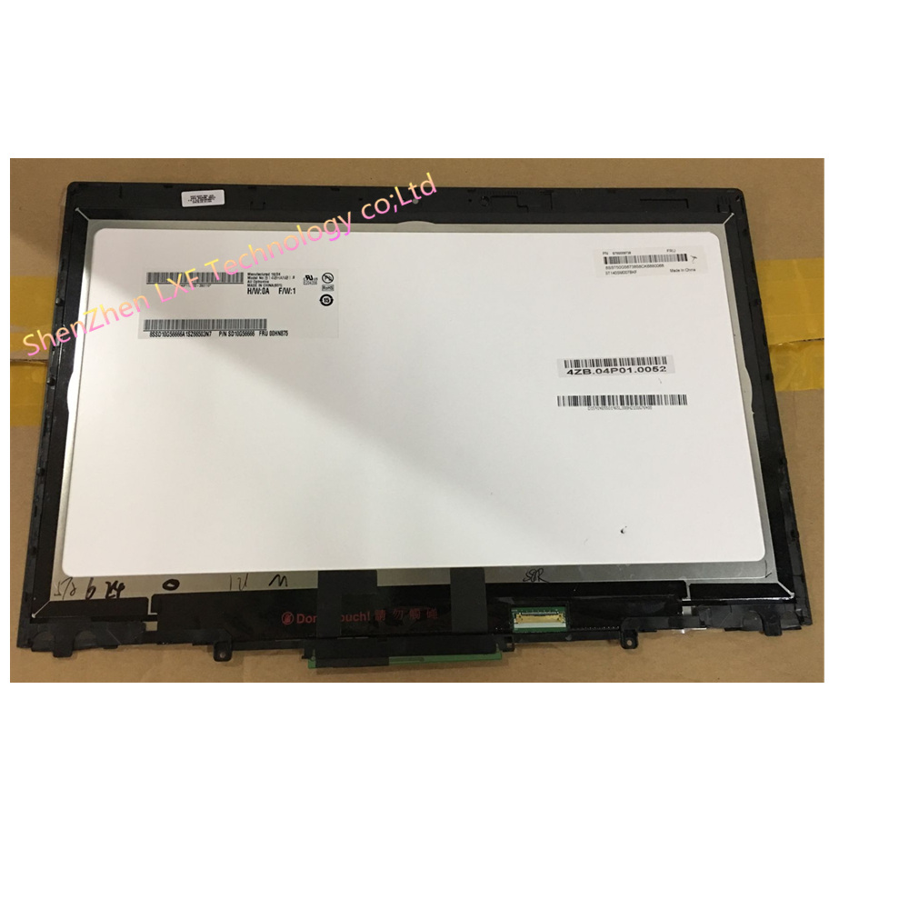 "14"" For Lenovo ThinkPad X1 Yoga Touch Screen Assembly W/Digitiizer+Frame bezel B140HAN01.8 FRU:00HN875"