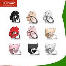 HOTWAV Universal High Quality Flower Finger Ring Smartphone Phone Holder 360 degree Stand Holder For iPhone X 7 Plus All Phone(China)
