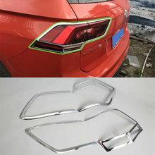 цена на Car Accessories Exterior Decoration 4pcs ABS Trim Rear Light Tail Lamp Cover Trim For Volkswagen Tiguan L 2016 Car Styling