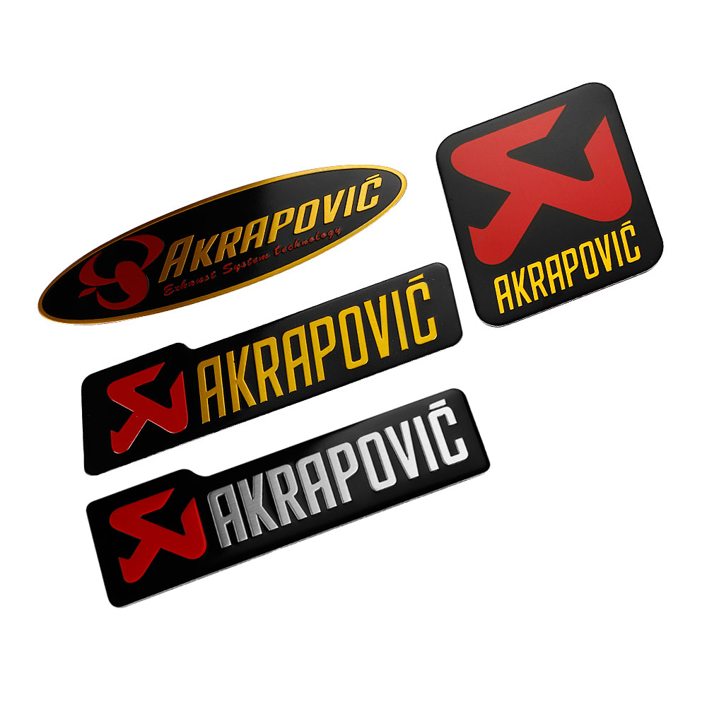 Car Styling 3D Aluminum Sticker Decal Emblem Badge For AKRAPOVIC Car Motorcycle Automobiles Body Side Door Accessories Sticker junction produce jp luxury reflective windshield sticker ho car auto motorcycle vinyl diy decal exterior window body car styling