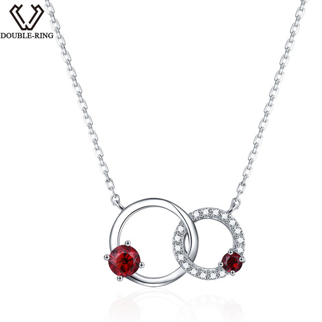 rings gold shipping circles for infinity girls interlocking necklace in pendant from necklaces double silver and circle item jewelry free ring