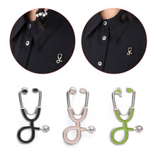 Medical Men Women Enamel Stethoscope Doctor Nurse Brooches Pin Coat Lapel Badge Medical Jewelry Enamel Pin Denim Jackets Collar(China)
