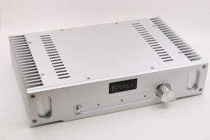 Prata All-Alumínio do Amplificador de Potência/Chassis Classe A Amplificador Cerco/HiFi DIY Caso Box Para 1969 Poder amp