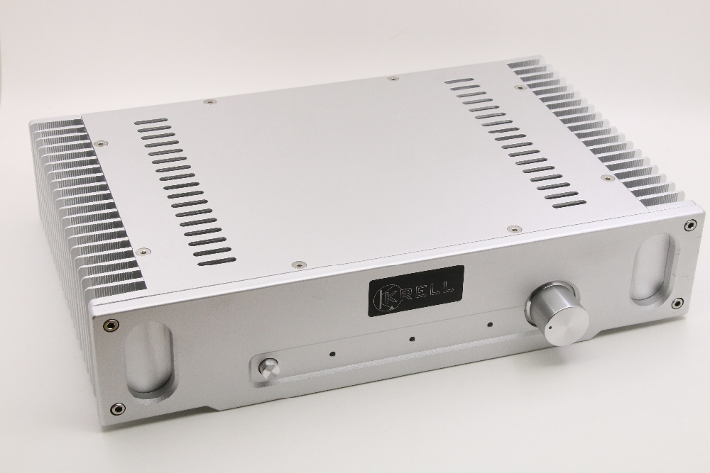 Silver All-Aluminum Power Amplifier /Chassis Class A Amplifier Enclosure/ DIY HiFi Case Box For 1969 Power Amp цены