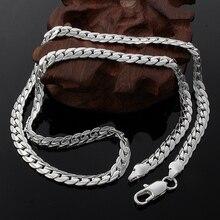 Серебряное, золотое, кубинское ожерелье с цепочкой, мужское колье, ожерелье из нержавеющей стали, мужские, Женские аксессуары, подарок, ювелирное изделие