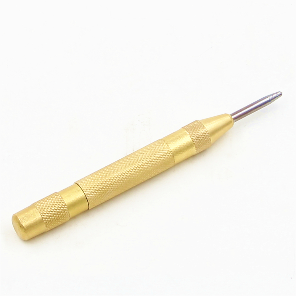 Center Pin Punch Spring Loaded Marking Starting Holes Tool Centre Punch Dot Prick Centre Chisel 5 Inch