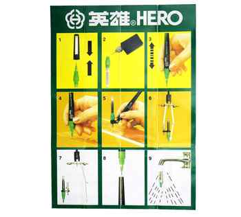 Authentic Hero Drawing Pens Set 020407 Pepeated Flling Ink Needle 81A
