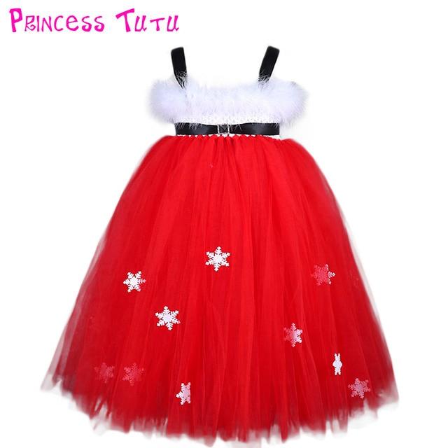 Aliexpress.com : Buy White Feather Santa Baby Christmas Tutu Dress ...