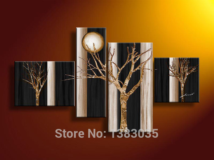 Black And Gold Wall Art popular abstract trees art-buy cheap abstract trees art lots from