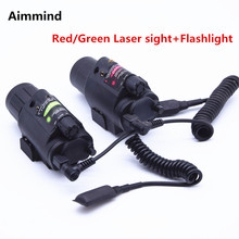 Combo Green/Red Laser Sight and LED Flashlight with 20mm Picatinny Rail Mount for Glock 17 19 22 Hunting Rifle security equipment green laser sight and led tactical flashlight combo for hunting