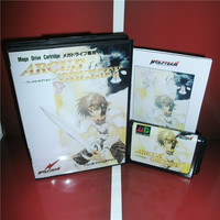 Arcus Odyssey Japan Cover with box and manual For Sega Megadrive Genesis Video Game Console 16 bit MD card
