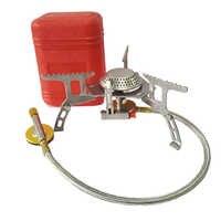 17*7 cm Mini estufas de Camping plegables estufa de Gas al aire libre horno portátil cocina Picnic Split Stoves 3000 W Cocina quemadores