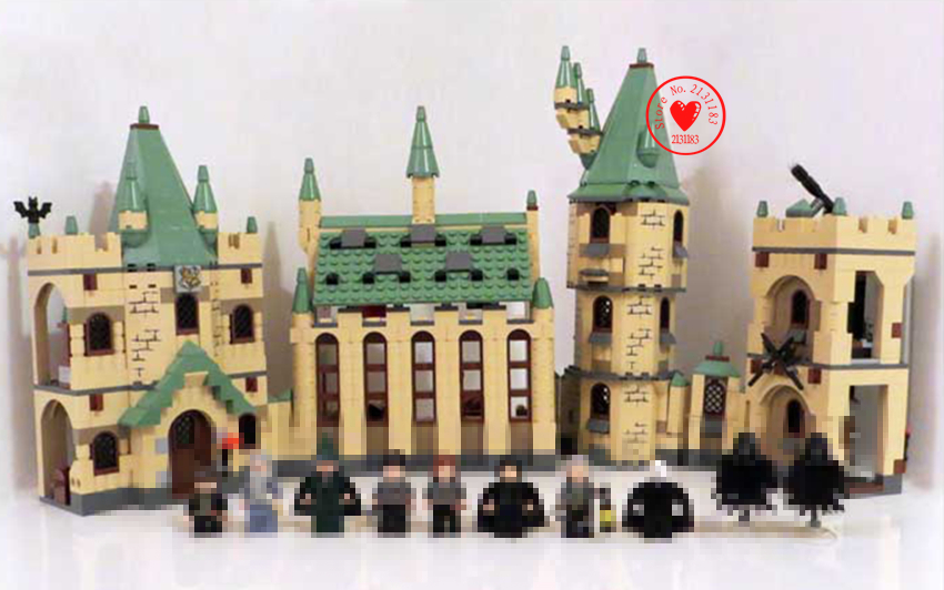 New harry potter Movies fit legoings harry potter Hogwarts catle figures creative Building Block Bricks 4842 gift kid toy boy