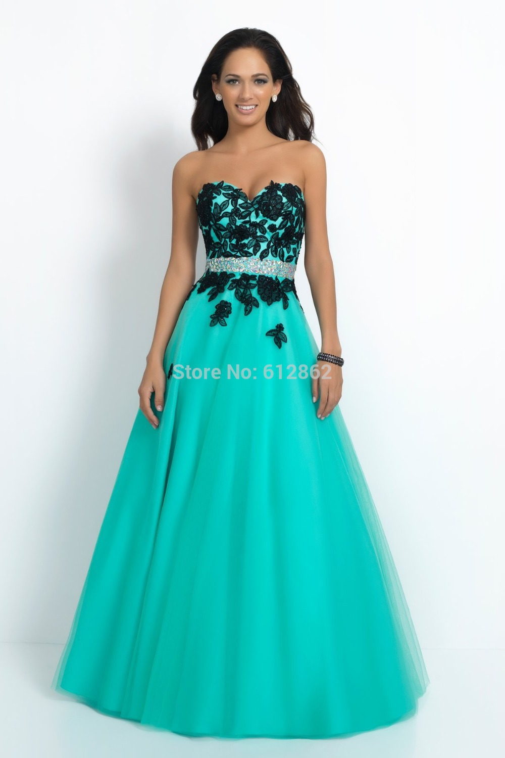 Strapless No Train Black Lace Aqua Blue Wedding Dresses 2015 Sexy: Turquoise Black And White Wedding Dresses At Websimilar.org