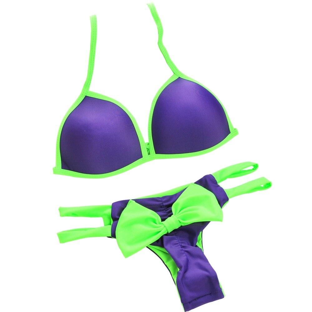 P&j Hot Bow Knot Thong Tanga Bikini Swimwear Female Bandage Swimsuit Brazilian Sexy Biquini Beach Bathing Suits Maillot De Bain brazilian tanga bikini 2016 swimwear women big bow thong bikini bottom sexy brazilian biquini bralette trajes de bano women