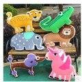 Brinquedos de pelúcia travesseiro criativo leão dos desenhos animados do Dinossauro Crocodilo elefante leopardo parágrafo baleia Poodles Polvo travesseiro brinquedos de pelúcia