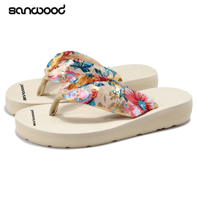 d574039f8 Hot Best Women Summer Fashion Sandals Beach Flip Flops Print Bohemian Soft  Slippers