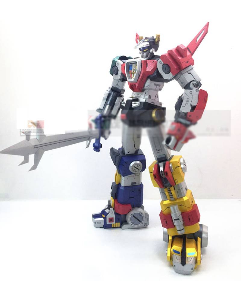 Super Alloy Lion Voltron Soul Beast King GoLion Transformation Robot Paper Model Action Figure Collection Toy