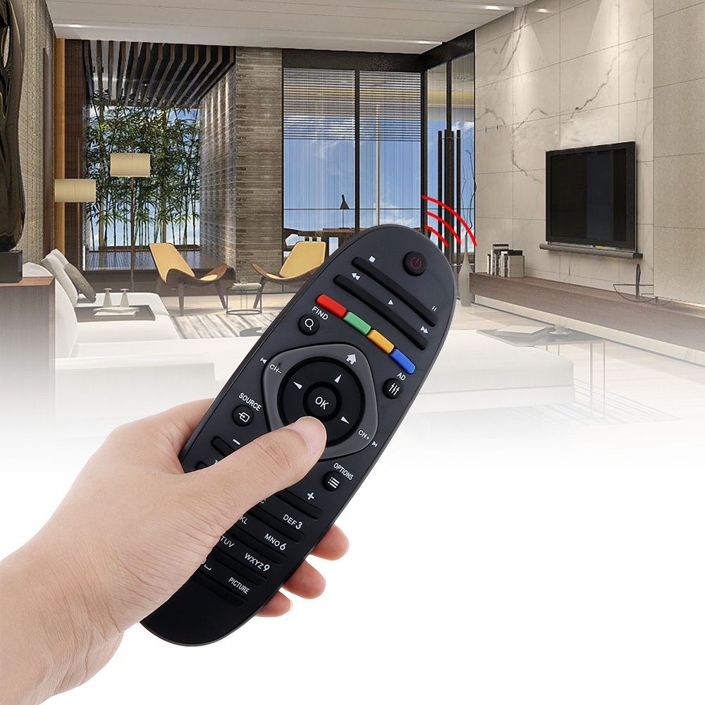 Image 2 - 1PC Universal Philips TV Remote Control Smart Digital Replacement Remote Controller Support 2 x AAA Batteries for Philips TV/DVD-in Remote Controls from Consumer Electronics