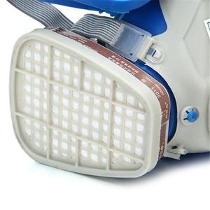 Image 4 - Gas Comprehensive Cover Paint Chemical Mask & Goggles Pesticide Dustproof Fire Escape  respirator carbon filter mask